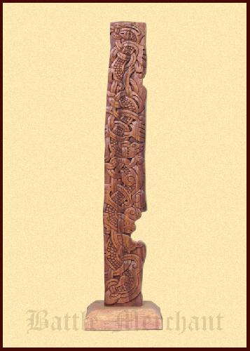 Wooden-Stele-carved-in-Viking-Urnes-style