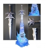 Frostmourne letter opener in block of ice with LED effect